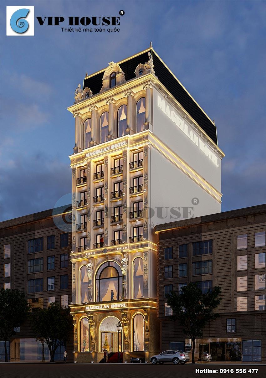 Khách sạn với vẻ đẹp lộng lẫy bởi tấm áo ảnh sáng