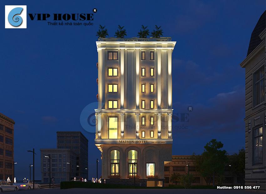 Mẫu thiết kế khách sạn tiêu chuẩn 3 sao đẹp mãn nhãn với kiến trúc tinh tế