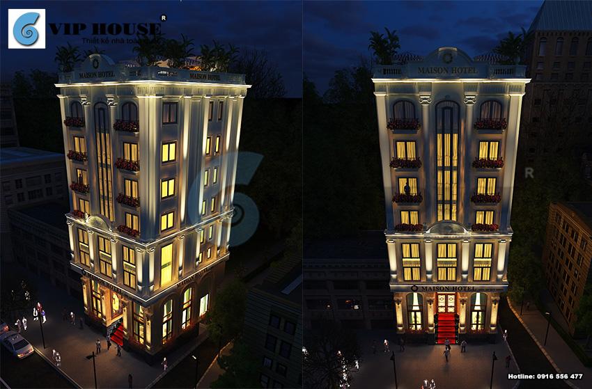Công trình khách sạn tân cổ điển 2 mặt tiền diện tích 170m2 tại Quy Nhơn