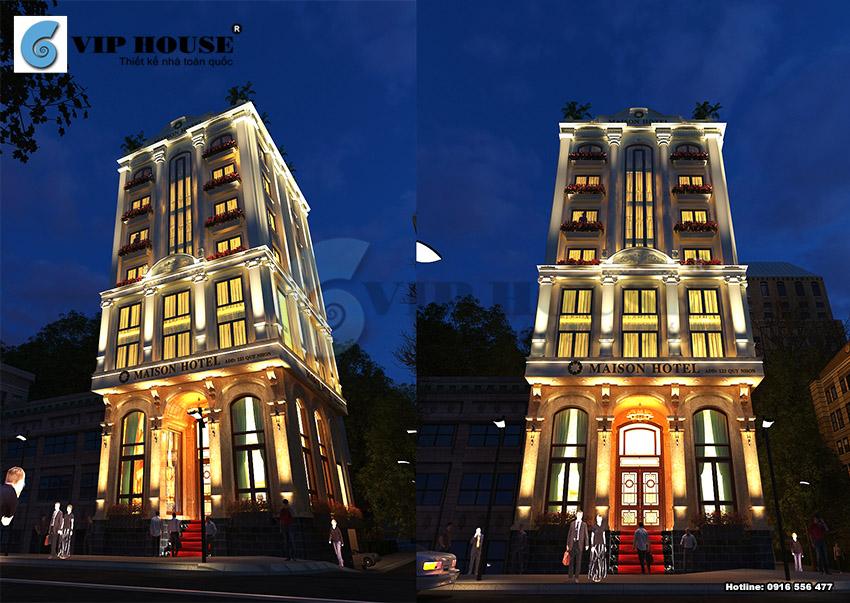 Mẫu thiết kế khách sạn 3 sao cao cấp La' MAISON tại Quy Nhơn
