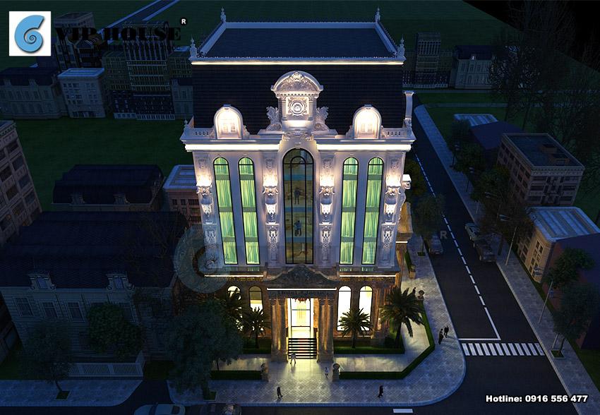 View nhìn ấn tượng của khách sạn cổ điển 3 sao từ trên cao