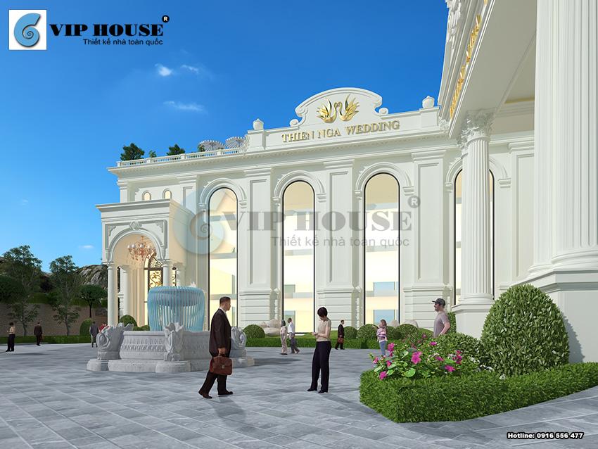 Kiến trúc khách sạn thể hiện vẻ đẹp tinh tế bằng những đường nét tân cổ điển xa hoa