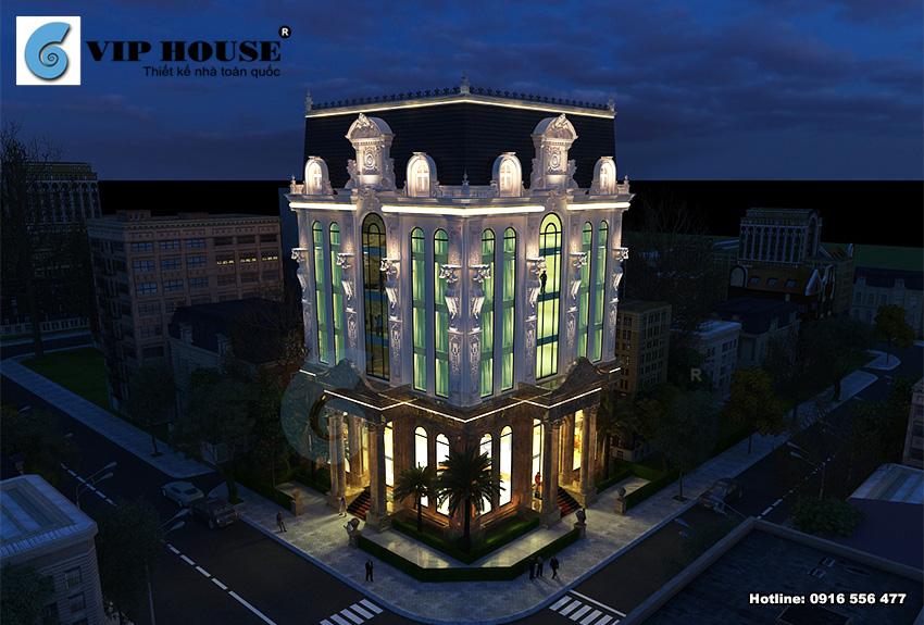 Khách sạn 3 sao phong cách cổ điển 2 mặt tiền đẹp ấn tượng