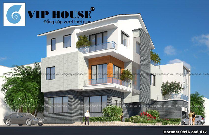 Mẫu thiết kế biệt thự 3 tầng phong cách hiện đại mang vẻ đẹp độc đáo
