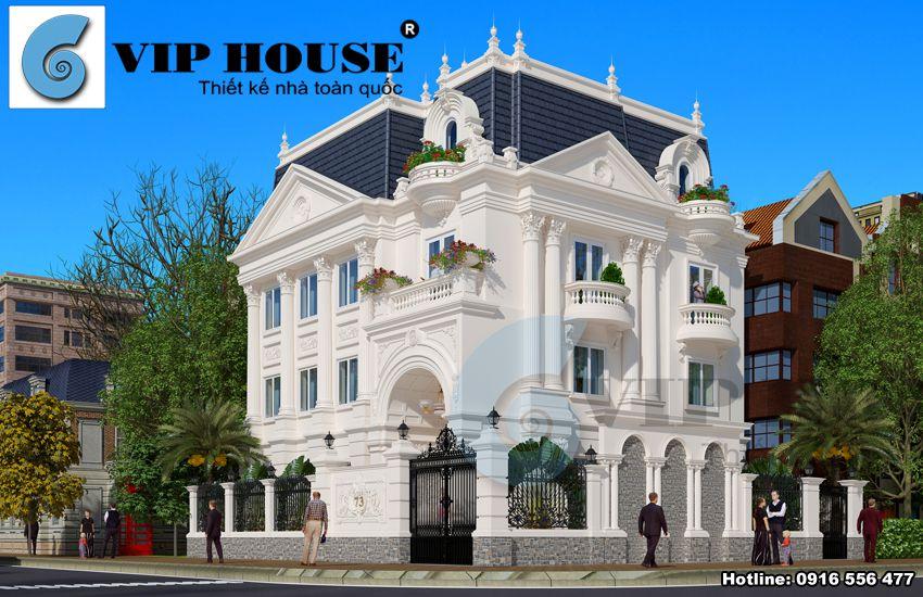 Kiến trúc biệt thự 3 tầng phong cách cổ điển tại Hòa Bình