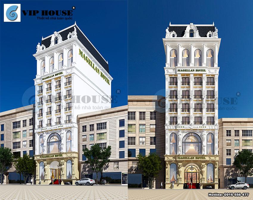 Mẫu thiết kế khách sạn tân cổ điển 4 sao cao cấp diện tích 300 m2