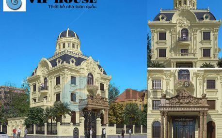 Thiết kế biệt thự lâu đài ấn tượng kiến trúc Châu Âu