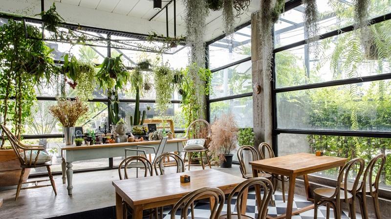 Hình ảnh: Thiết kế nội thất quán cafe với không gian xanh thoáng mát
