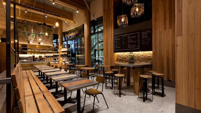 Hình ảnh: Thiết kế quán cafe với phong cách mộc gần gũi tự nhiên