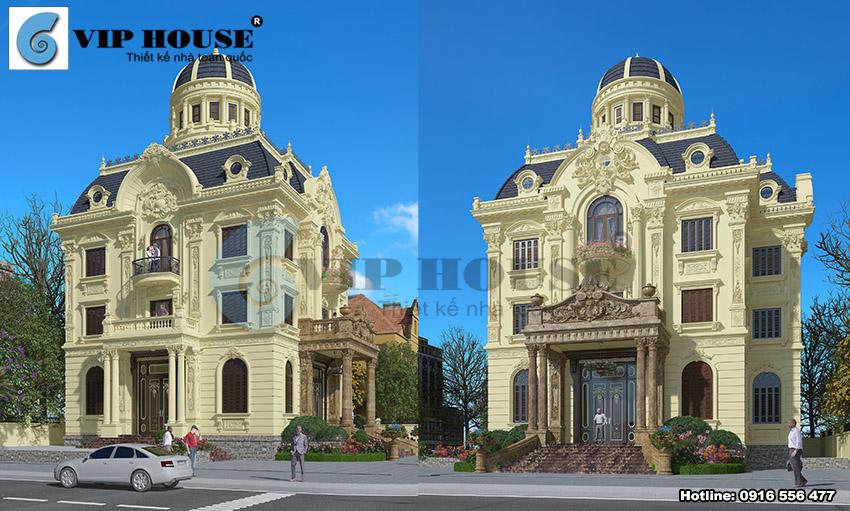 Hình ảnh: Kiến trúc biệt thự phong cách cổ điển với vẻ đẹp kiến trúc ngoại thất ấn tượng