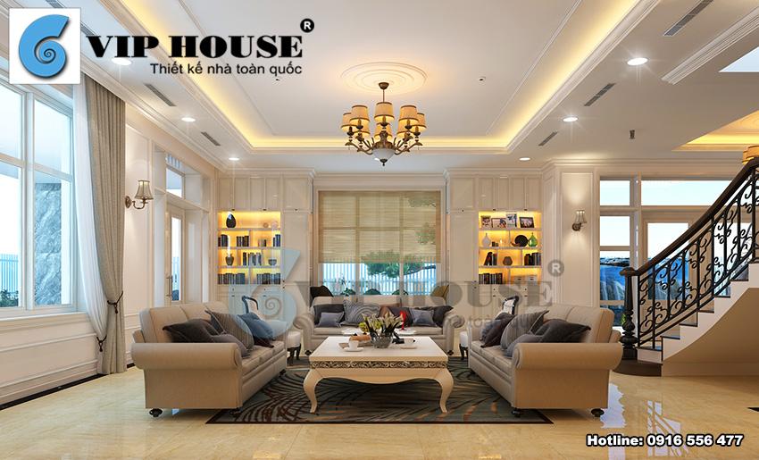 Hình ảnh: Thiết kế nội thất biệt thự phong cách tân cổ điển