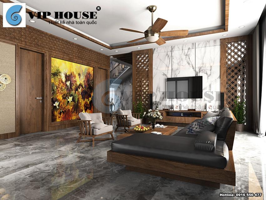 Hình ảnh: Thiết kế nội thất biệt thự phong cách hiện đại xen kẽ nét đẹp Á Đông
