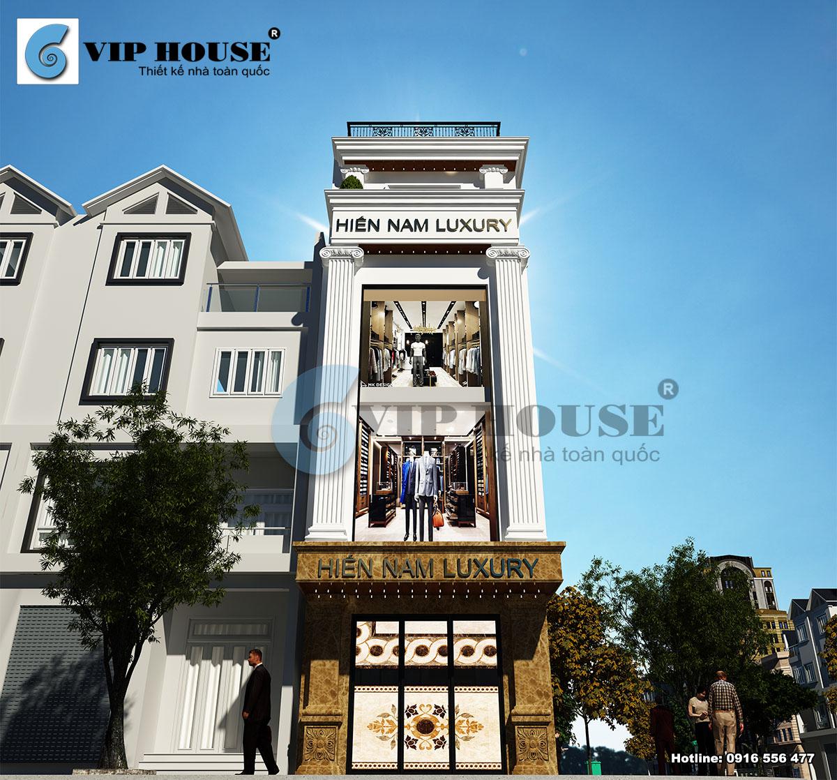 Hình ảnh: Phong cách tân cổ điển được thể hiện một cách đầy ấn tượng và bắt mắt cho công trình nhà phố 4 tầng 1 tum