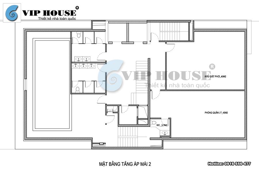 Thiết kế khách sạn tại Phú Yên tân cổ điển 4 sao – VH KS MS52