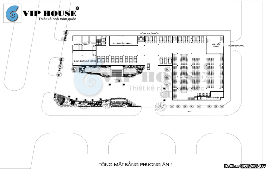 Mẫu thiết kế khách sạn, nhà hàng tiệc cưới 4 sao tại Sơn La - VH KS MS50