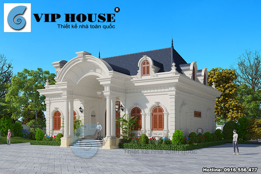 Thiết kế biệt thự 1 tầng cổ điển tại Thanh Hóa - VH BTP 009