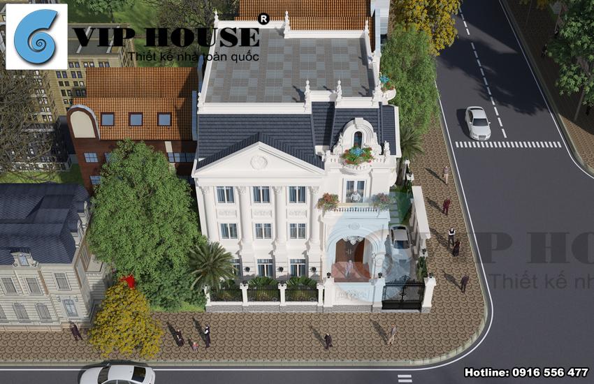Thiết kế biệt thự 3 tầng kiến trúc Pháp tại Hòa Bình - VH BTP 022