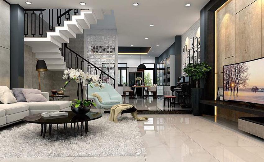 Thiết kế không gian đẹp theo phong cách hiện đại, tiện nghi