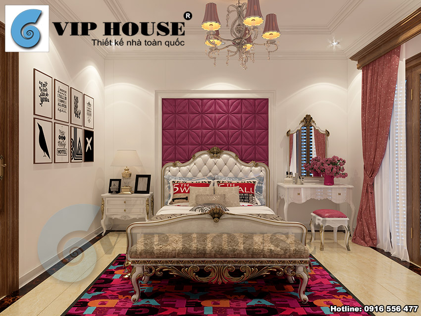Thiết kế nội thất nhà phố phong cách Pháp 4 tầng tại Ninh Bình