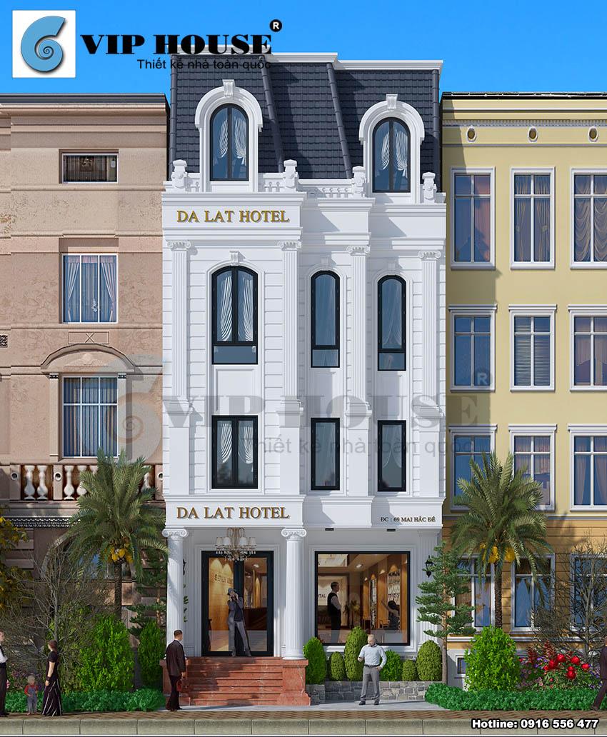 Thiết kế Khách sạn Tân cổ điển tại Đà Lạt - VH KS MS20
