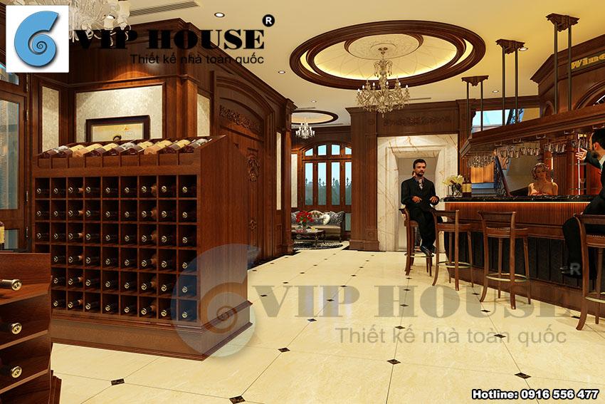 Thiết kế nhà hàng rượu vang đặc biệt, đẳng cấp phong cách châu Âu