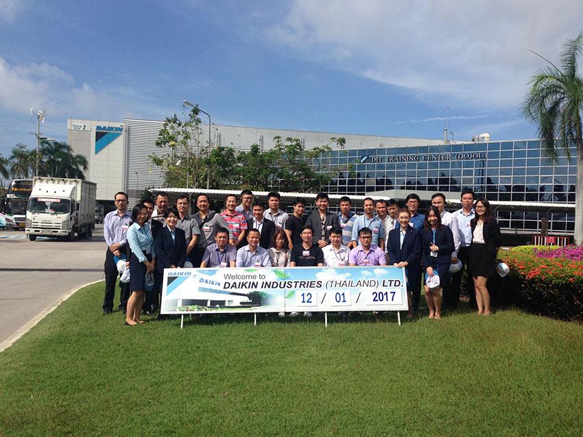 Vip House tham quan nhà máy sản xuất của tập đoàn DAIKIN tại Thái Lan