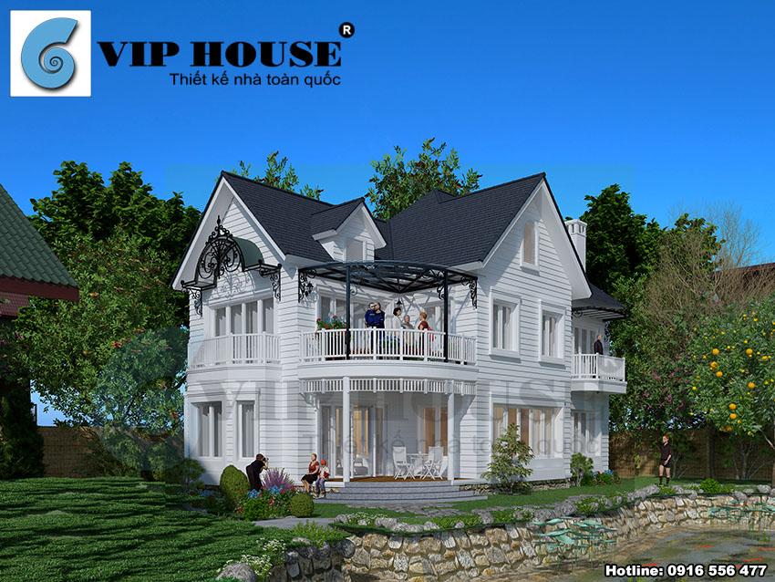Hình ảnh: Phối cảnh thiết kế biệt thự vườn 2 tầng diện tích 120m2 của Vip House