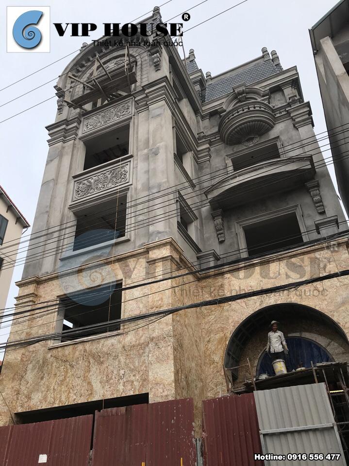 Thiết kế biệt thự phố mini kiểu Pháp 4 tầng - VH BTP 001