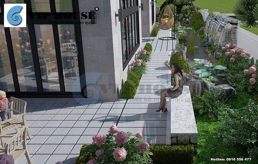 Biệt thự hiện đại 3 tầng tại đô thị Ciputra - VH BTHĐ 002
