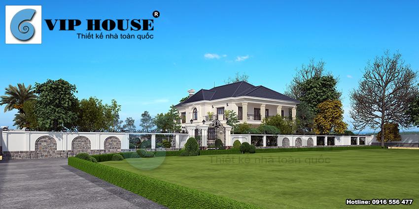 Biệt thự tân cổ điển 2 tầng tại Phú Thọ - VH BTP 024