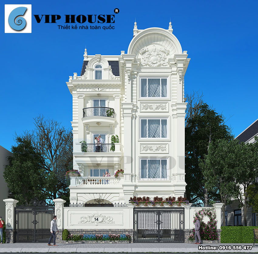 Thiết kế biệt thự Pháp cổ sang trọng tại Nam Định - VH BTP 027