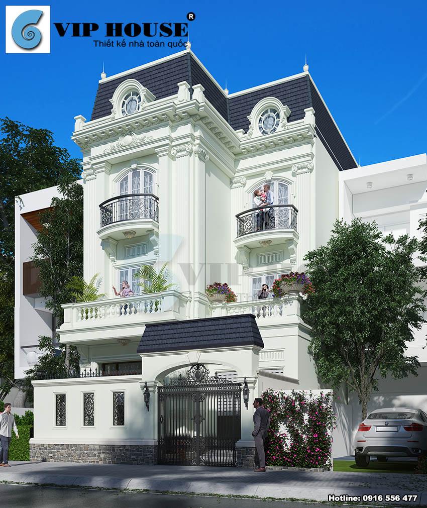Biệt thự kiểu Pháp 3 tầng diện tích 80m2/sàn chi phí từ 700 triệu