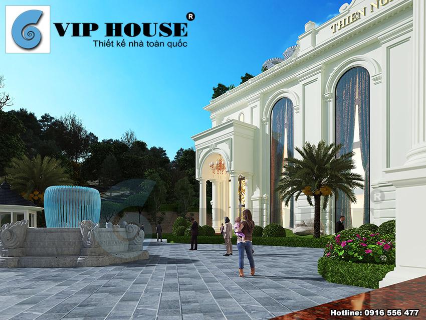 Vẻ đẹp kiến trúc tân cổ điển được thể hiện tinh tế xuyên suốt công trình