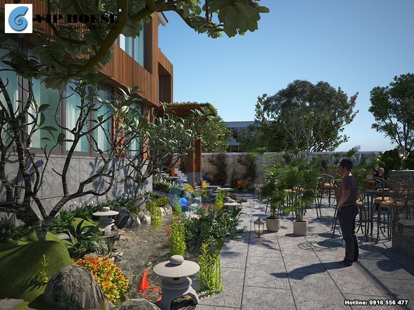 Thiết kế kiến trúc nhà hàng ăn uống Đồng Gia Viên - VH NH MS18