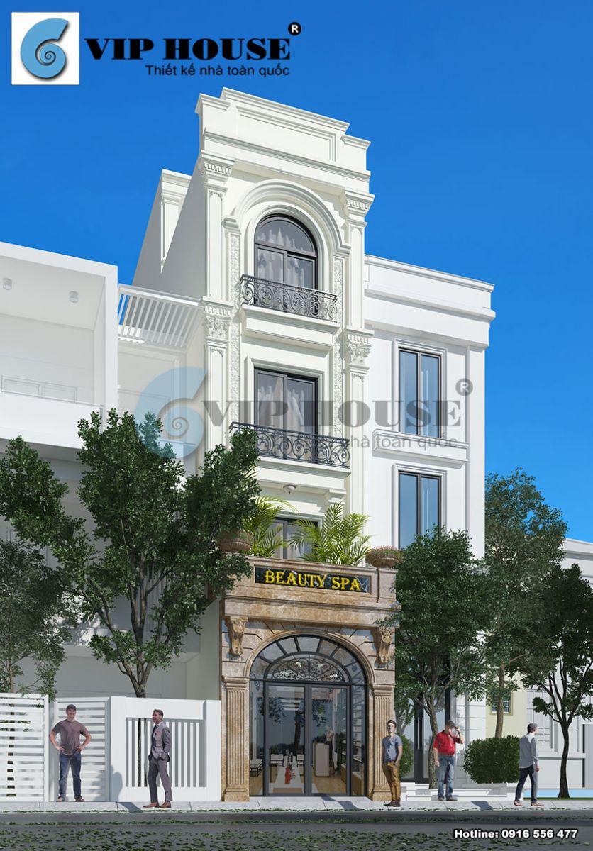 Thiết kế cải tạonhà phố kiểu Pháp4 tầng tại Thành Công - Hà Nội - VH NP MS008