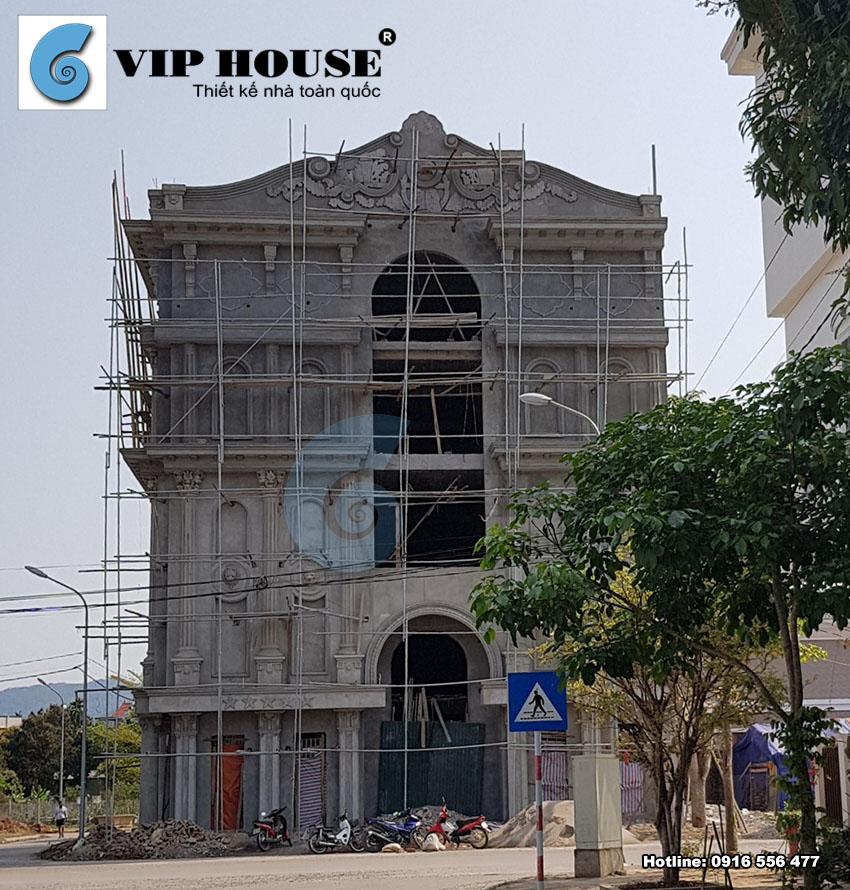Thiết kế quán karaoke 4 tầng cổ điển tại Hòa Bình - VH QK MS02