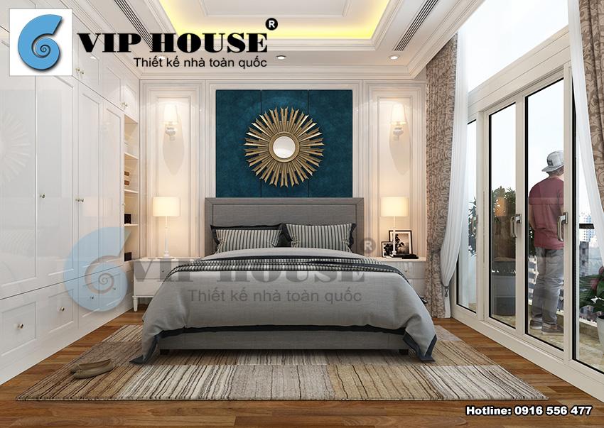 Thiết kế nội thất biệt thự Ciputra phong cách tân cổ điển Pháp