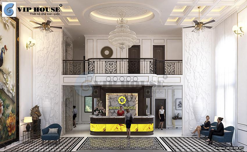 Thiết kế nội thất khách sạn kiểu Pháp sang trọng