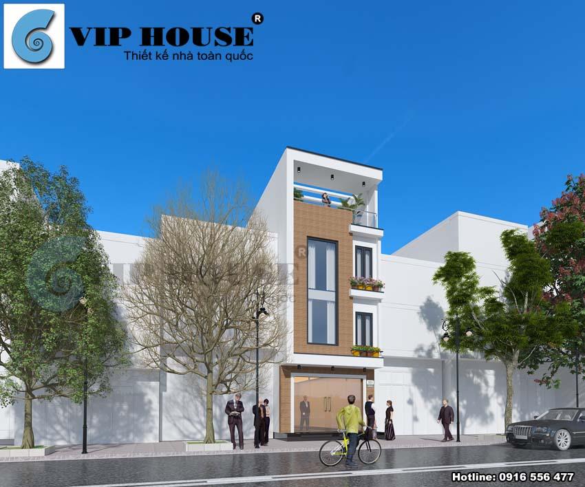 Thiết kế nhà phố hiện đại 4 tầng tại Hà Nội