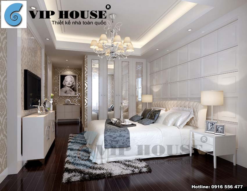 Thiết kế phòng ngủ khách sạn hiện đại và tiện nghi