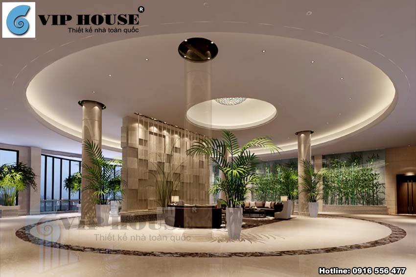 Thiết kế sảnh khách sạn sang trọng và thu hút